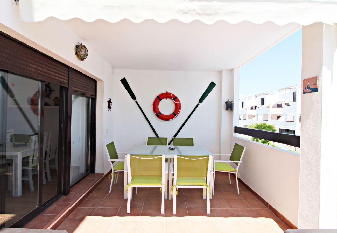 Ferienwohnung in Vera playa - Alborada 1º247 - Meerblick, 150M Strand, WiFi