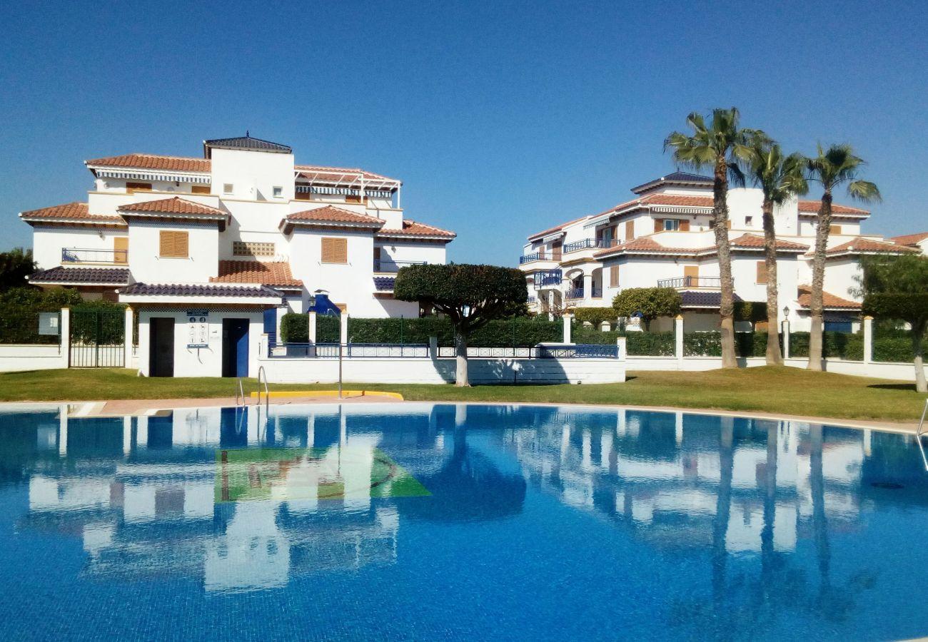 Ferienwohnung in Vera playa - Veramar 5 - Meerblick, 200M Strand, Terrasse