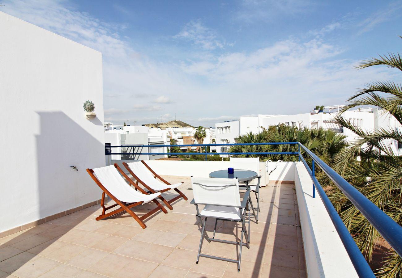 Stadthaus in Vera playa - Playa de Baria I - Am strand, mit privatem Garten & WiFi