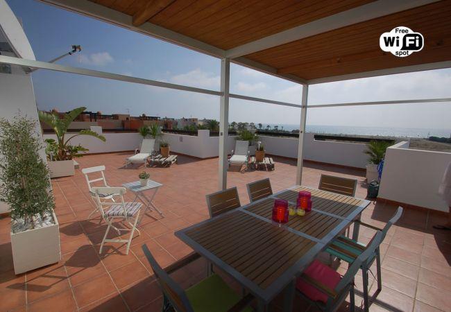 Appartement in Vera Playa - Alborada Penthouse - Strand 150m, WiFi, SAT TV, zeezicht