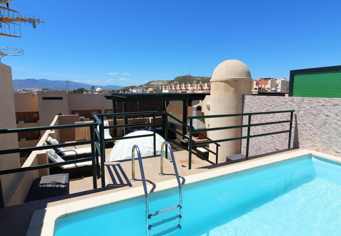Appartement in Vera Playa - Paraíso de Vera II - privé zwembad, WiFi, 300m strand