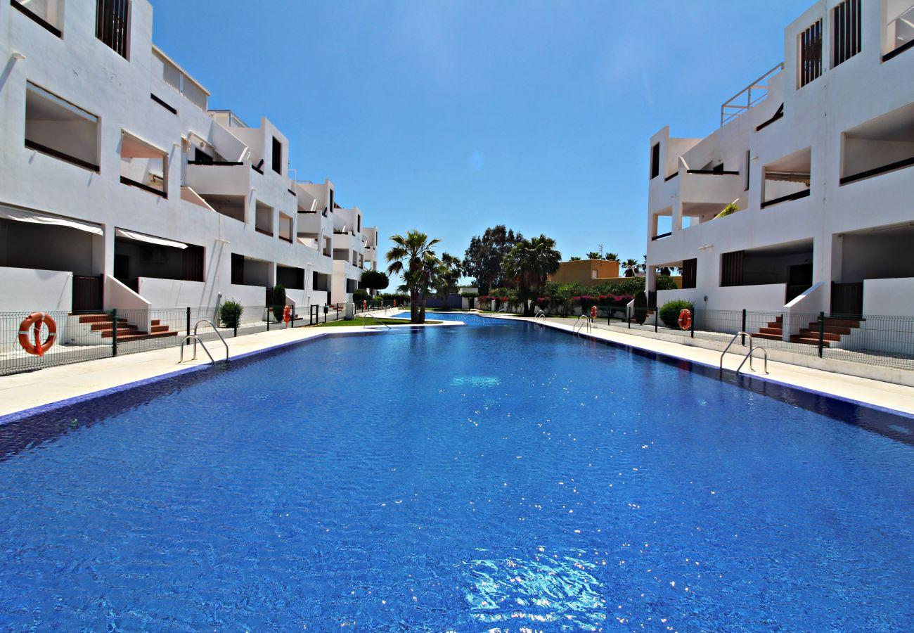 Apartamento en Vera playa - Alborada 1º247 - Vistas al mar, 150m playa, WiFi